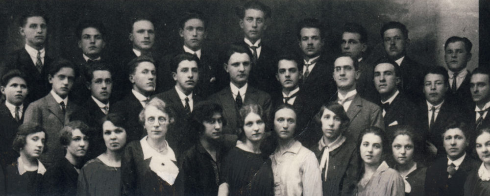 Organistenschule Ljubljana 1927 (mittlere Reihe 2. von links)