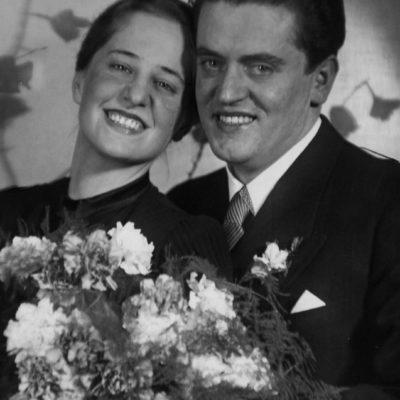 Anton und Hilda Dermota, Hochzeitsfoto 1939