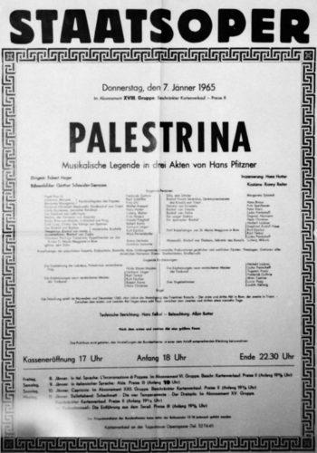 Staatsoper Wien 1977, in Palestrina von Hans Pfitzner, Foto: Fayer
